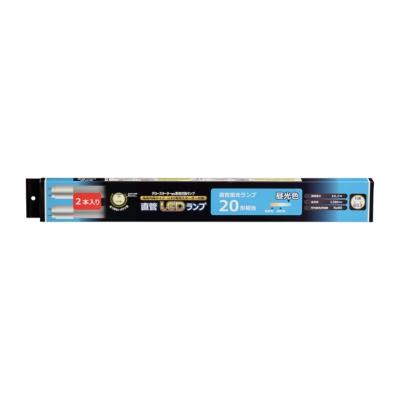直管LEDランプ 20形相当 G13 昼光色 2本入 グロースターター器具専用