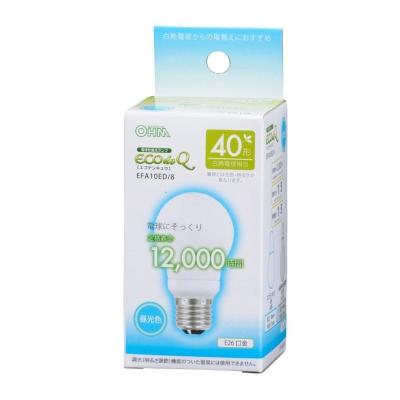 電球形蛍光灯 E26 40形相当 昼光色 エコデンキュウ