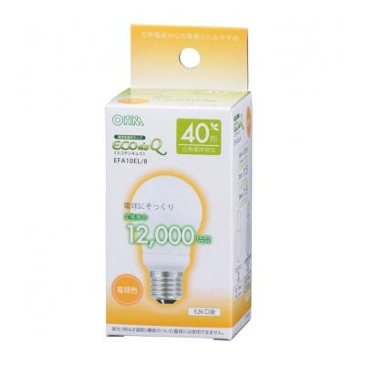 電球形蛍光灯 E26 40形相当 電球色 エコデンキュウ