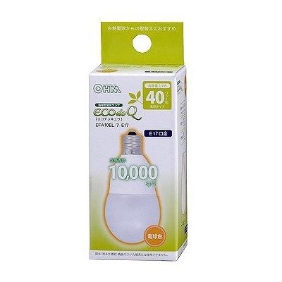 電球形蛍光灯 E17 40形相当 電球色 エコデンキュウ