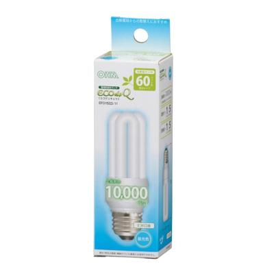 電球形蛍光灯 D形 E26 60形相当 昼光色 エコデンキュウ