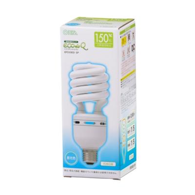 電球形蛍光灯 スパイラル形 E26 150形相当 昼光色 エコデンキュウ