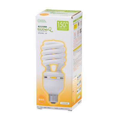 電球形蛍光灯 スパイラル形 E26 150形相当 電球色 エコデンキュウ