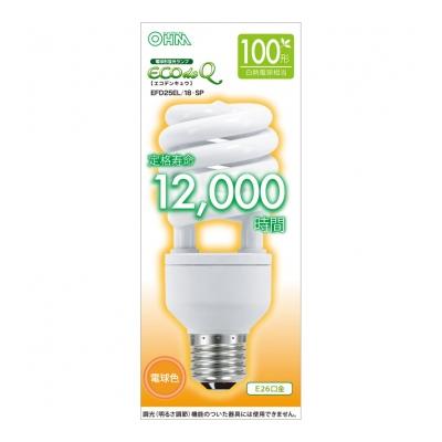 電球形蛍光灯 スパイラル形 E26 100形相当 電球色 エコデンキュウ