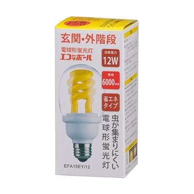 電球形蛍光灯 スパイラル形 E26 60形相当 低誘虫タイプ