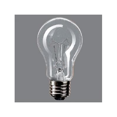 耐震電球 110V用 40形 E26口金 55ミリ径 クリア