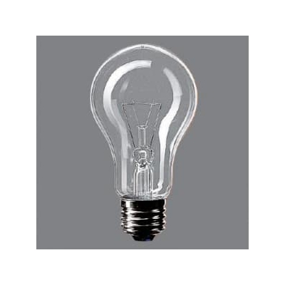 街灯用電球 E26口金 60ミリ径 60形 クリア