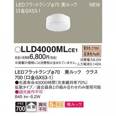 LEDフラットランプ 電球色 美ルック 拡散 φ70