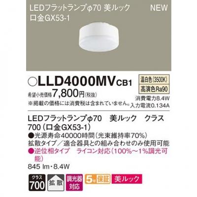 LEDフラットランプ 温白色 美ルック 拡散 調光 φ70