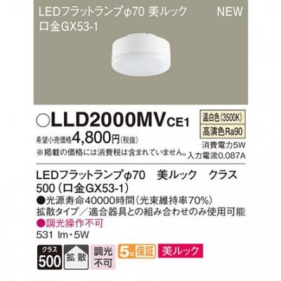 LEDフラットランプ 温白色 美ルック 拡散 φ70