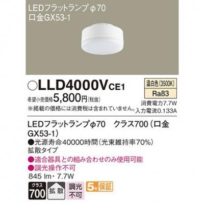 LEDフラットランプ 温白色 拡散タイプ φ70
