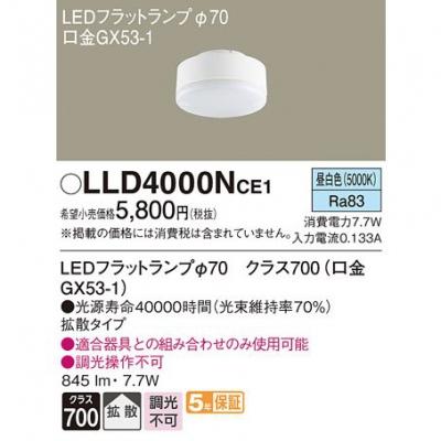 LEDフラットランプ 昼白色 拡散タイプ φ70