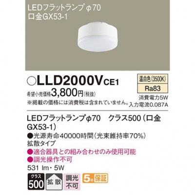 LEDフラットランプ 温白色 拡散 φ70