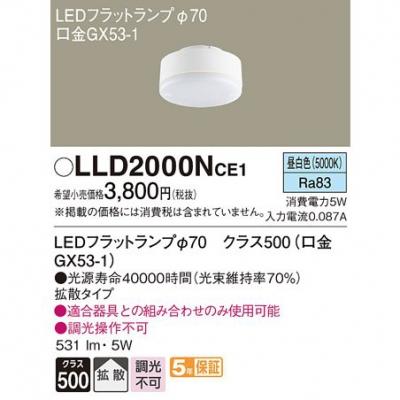 LEDフラットランプ 昼白色 拡散 φ70