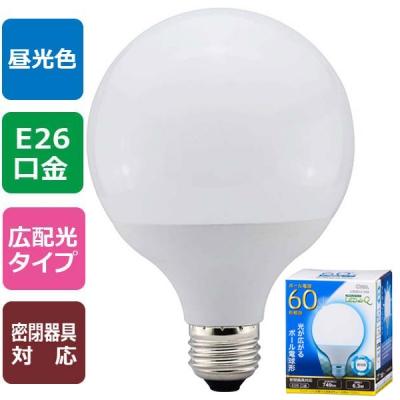 LED電球 ボール形 E26 60形相当 昼光色 [品番]06-0758