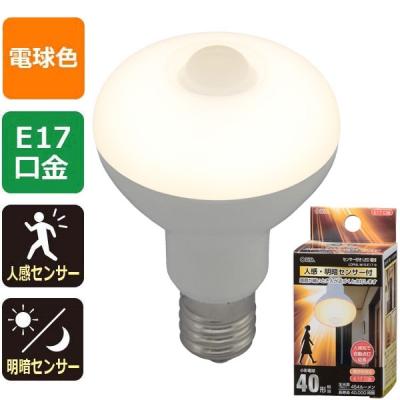 LED電球 レフランプ形 E17 40形相当 人感・明暗センサー付 電球色 [品番]06-3413