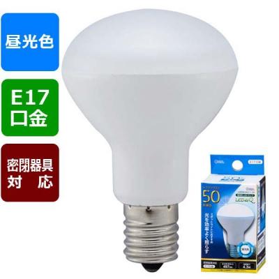 LED電球 ミニレフランプ形 E17 50形相当 昼光色 [品番]06-0770