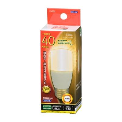 LED電球 T形 E26 40形相当 電球色 [品番]06-3743