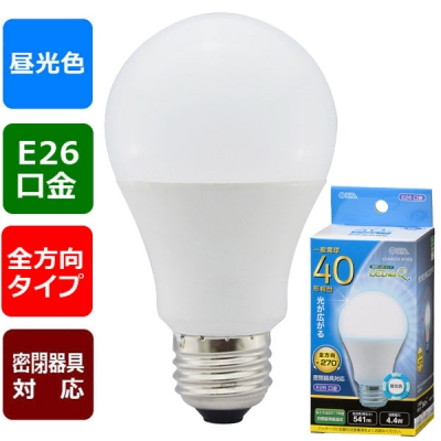 LED電球 E26 40形相当 昼光色 [品番]06-3406