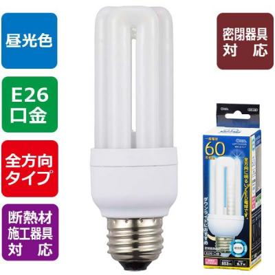 LED電球 D形 E26 60形相当 昼光色 [品番]06-1683