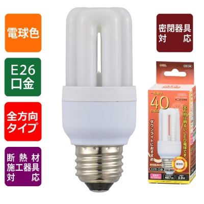LED電球 D形 E26 40形相当 電球色 [品番]06-1678