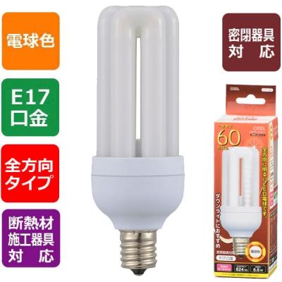 LED電球 D形 E17 60形相当 電球色 [品番]06-1674