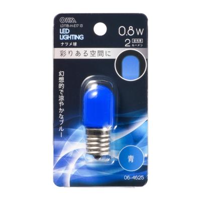 LEDナツメ球装飾用 T20/E17/0.8W/2lm/青色 [品番]06-4625