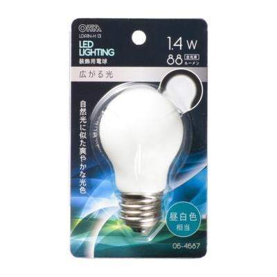 LED電球装飾用 PS/E26/1.4W/88lm/昼白色 [品番]06-4687
