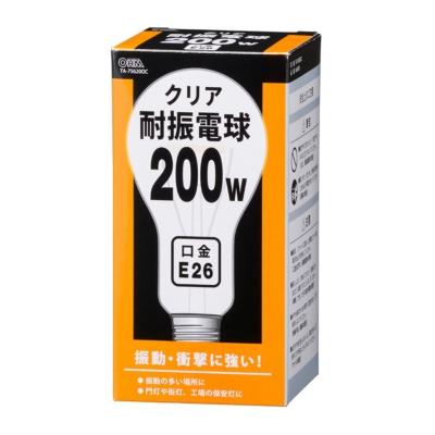 耐振電球 E26 200W クリア [品番]06-0585