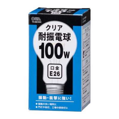 耐振電球 E26 100W クリア [品番]06-0583