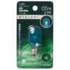 LEDナツメ球装飾用 T20/E12/0.5W/2lm/クリア緑色 [品番]06-4611