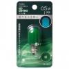 LEDナツメ球装飾用 T20/E12/0.5W/1lm/緑色 [品番]06-4607