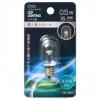 LEDナツメ球装飾用 T20/E12/0.5W/16lm/クリア昼白色 [品番]06-4604