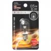 LEDナツメ球装飾用 T20/E12/0.5W/15lm/クリア電球色 [品番]06-4603